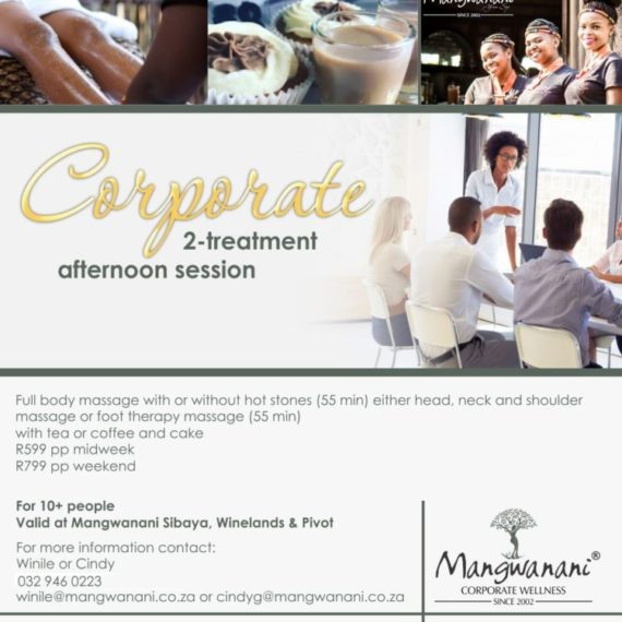 Corporate Packages – The 2-Treatments Collection Mangwanani