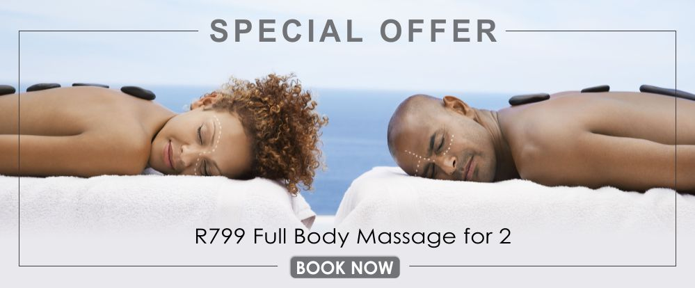 a 60 minute full body massage with hot stones for you and your partner for only R799